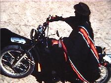 A Saraguro man on a motorcycle